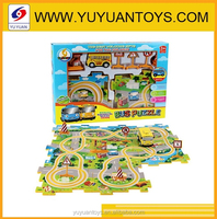 2015 New listed Exciting game Electric puzzle train track toys for kids