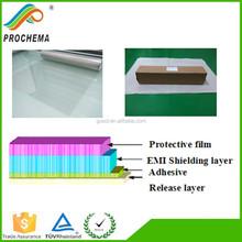 Low resistance 85Mesh adhesive copper grid pet film hospital used shielding film