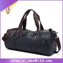 Sports Gym Travel Leather Barrel Duffel Bag