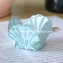 Unique wedding favors decorations seashell, paper wedding bomboniere, laser cut mini sweet wrappers for wedding bomboniere