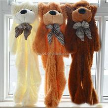 plush toys unstuffed/Hot Sell High Quality plush toy unstuffed teddy bear/Wholesale gaint plush toy unstuffed teddy bear skin