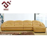 Leather luxury L shaple expensive sofa
