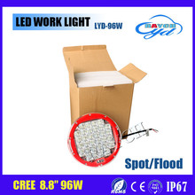 Wholesale Promotion angel eye led work light 9inch 96w led head light for jeep wrangler accessories led headlight