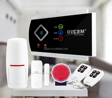 security & protection smart home GSM alarm system with LCD display