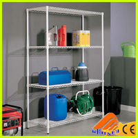 ce certificate adjustable wire tool rack with wheels,steel pipe storage rack,back wire shelves