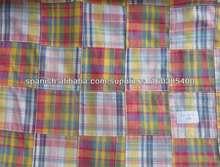 Madrás estampado patchwork tejido