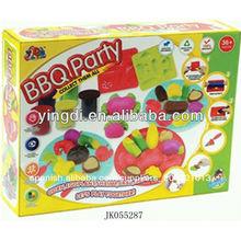 bbq del molde parte de la masa play juguetes herramienta de cerebros y juguetes