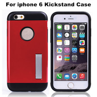 Shockproof Newest Tough Armor Hard Shell Case Kickstand Phone Back Cover For iPhone 6 4.7 Factory Wholesale