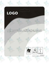 Hard packaging backboard for memory card