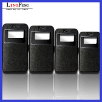 High quality leather universal flip phone case 3.5inch-6.0inch universal flip cell phone case with phone holder