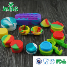 Falling Preventing Wax Container Safe Silicone Concentrate Container Small Oil Containers