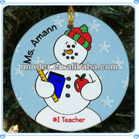 Cute Snowman Round Walmart Glass Christmas Ornaments For Christmas Tree Ornaments