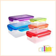Reusable PP clear plastic food container, microwave food container, airtight food container