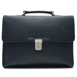 CSLRB089-001 Wholesale customized executive men genuine leather laptop bags men briefcase bag