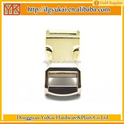golden side release buckles,metal side release buckles