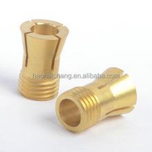 Precision CNC machining brass compression nut, ShenZhen OEM & ODM manufacturer