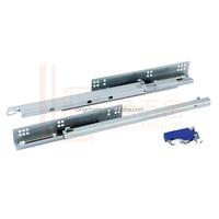 Invisible soft close drawer slide rail drawer track