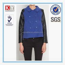 unique design contrast color double breasted description of a jacket