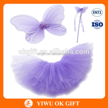 Wholesale Handmade Party Dress Fairy suit Wings TUTU Dress And Wand