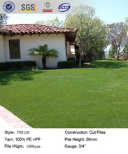 F60150 natural artificial turf grass, artificial grass turf for park furnishing