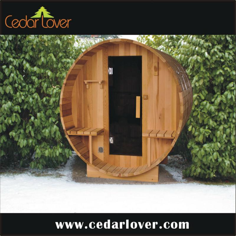 Rouge c dre ext rieur hammam sauna portatif salle de sauna for Hammam exterieur