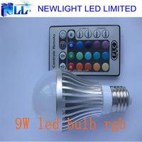 2015 IR remote type 9W RGB led bulb