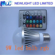 2015 IR remote type 9W RGB led bulb