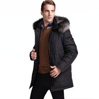 Latest Fashion Design Mens Fur Collar Down Jacket coat for male