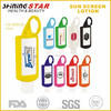 JS-03011A effective waterproof 30ml sunscreen lotion with colorful silicon holder