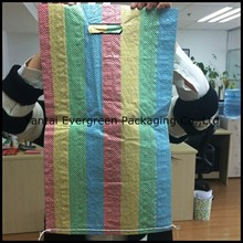 Cheap China PP Woven Bag 25kg With Colorful Stripes For Africa Market