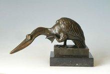 Aves de bronce estatuas TPAL-165 artesanía de metal de bronce antiguo del pájaro esculturas
