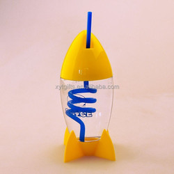 Patent High Quality Rocket straw bottle cup,walmat factory