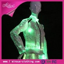 Roupas de fibra óptica luminosa light up jacket blazer modelo para as mulheres primavera