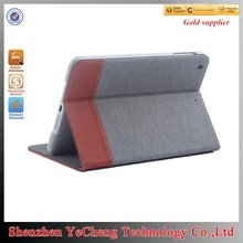 new products 2015 for ipad 2 dustproof leather tablet case with canvas
