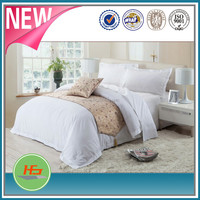 China manufacturer satin stripe white cotton hotel bedding sets/comforter sets