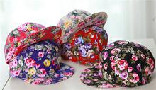 Fashion flowers dyed baseball cap