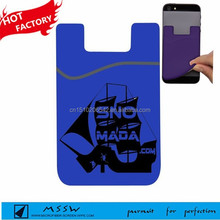 new business gift 3m sticker silicone mobile smart wallet cute credit card case holder