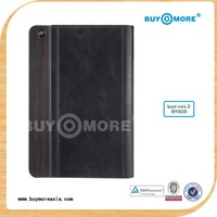 200% real wooden with best leather customized and design your own for ipad case