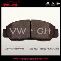 SEMIMETALLIC CAR BRAKE PADS REPAIR KIT 45022-S7A-N00