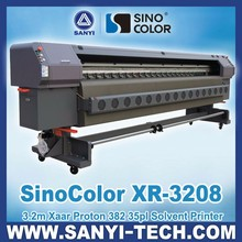 Large Format Solvent Printer SinoColor XR-3208, with Xaar Proton 382 Printheads