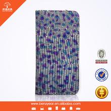 Lizard Grain Genuine Leather Flip Smart Case for iphone 6