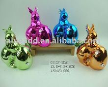 2012 ceramic easter electroplating rabbit