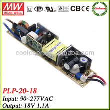 Meanwell PLP-20-18 20w dimming led driver 18v 1.1a