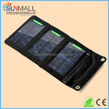 High Efficient 5W Foldable Solar Panel & Battery Charger