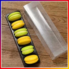 Clear plastic macaron packaging box wholesale,Clear PVC/PET plastic packaging box for 6 macarons,Custom printed macaron box
