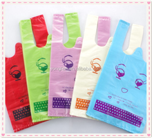 Cute plastic shopping bags with eyes, love eyes with eyelash