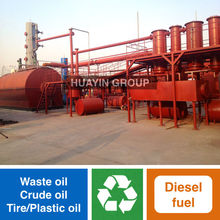 Huayin Brand Green Tech Used Oil Recycling Plant To Diesel Fuel