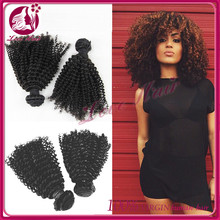 2015aliexpress cheap price 100% virgin unprocessed pure human Hair Weave Virgin indian Hair Bundles kinky curl sew in hair weave