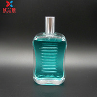 wholesale 100ml flat shape perfume with sprayer