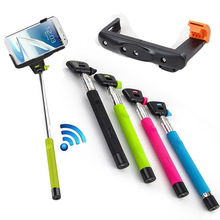 Colorful Handheld Monopod With Bluetooth Remote Control Shutter For iPhone For Android Phones